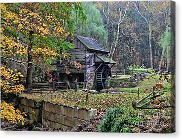 Old Fashion Mill Canvas Print by Paul Ward