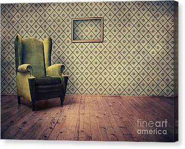 Old Fashioned Armchair Canvas Print