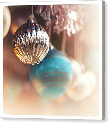 Old-fashioned Christmas Decorations Canvas Print