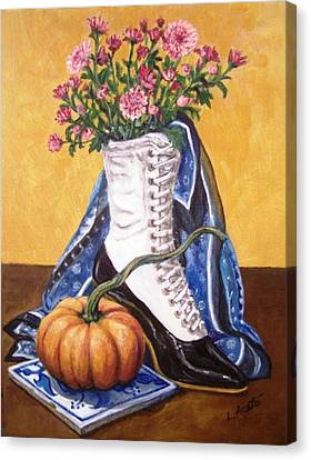 Canvas Print featuring the painting Old Fashioned Fall by Laura Aceto