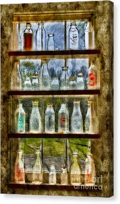 Old Fashioned Milk Bottles Canvas Print by Susan Candelario