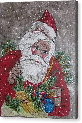 Old Fashioned Santa Canvas Print by Kathy Marrs Chandler