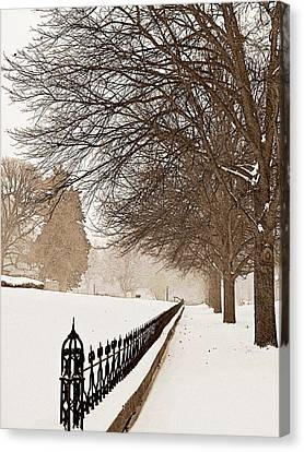 Old Fashioned Winter Canvas Print