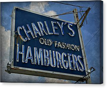 Hamburger Canvas Print - Old Fasion Hamburgers by Stephen Stookey