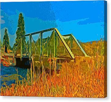 Old Firehole Bridge Canvas Print