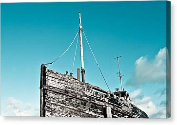 Old Fishing Boat Canvas Print by Tom Gowanlock