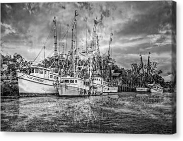 Old Fishing Boats Canvas Print by Debra and Dave Vanderlaan