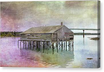 Old Fishing Pier  Canvas Print by Betty  Pauwels