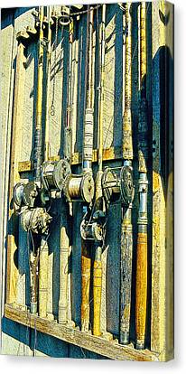 Old Fishing Rods Poster Image Canvas Print