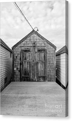 Old Fishing Shack Little Boars Head Rye Nh Canvas Print by Edward Fielding