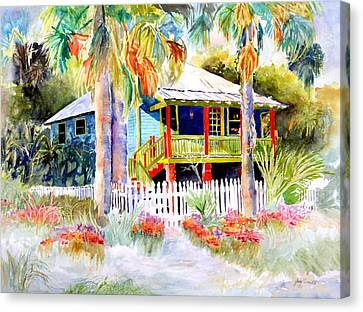 Old Florida House  Canvas Print by Joan Dorrill