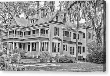 Old Florida Mansion Canvas Print by Cliff C Morris Jr