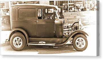 Old Ford Canvas Print by Cathy Anderson