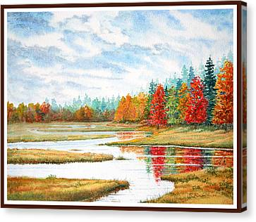 Old Forge Autumn Canvas Print by Roger Rockefeller