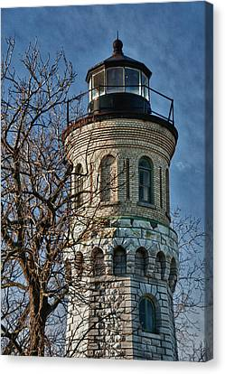 Canvas Print featuring the photograph Old Fort Niagara Lighthouse 4484 by Guy Whiteley