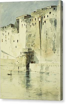 Old Fortress Naples Canvas Print by Childe Hassam
