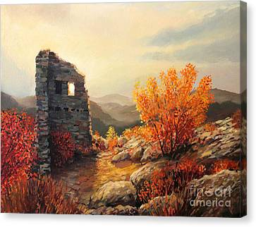 Old Fortress Ruins Canvas Print by Kiril Stanchev