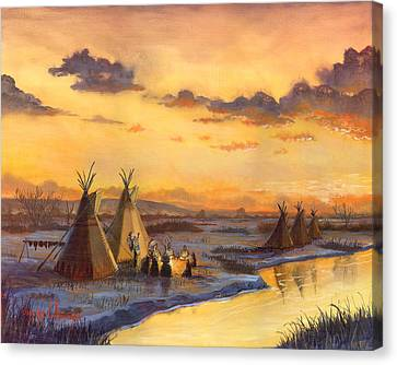 Old Friends New Stories Canvas Print by Jeff Brimley