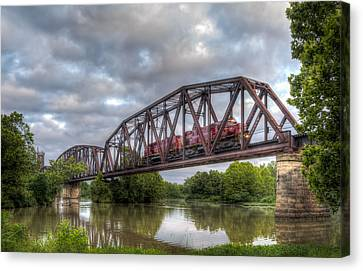 Jamesbarber Canvas Print - Old Frisco Bridge by James Barber