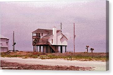 Old Galveston Canvas Print by Tikvah's Hope