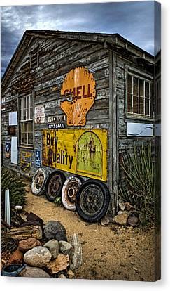 Old Garage Corner Canvas Print
