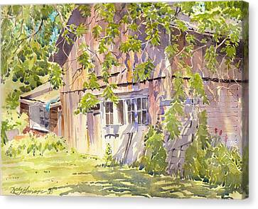 Old Garage Canvas Print by David Gilmore