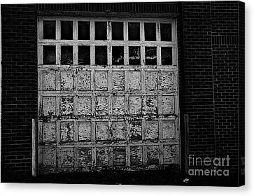 Old Garage In The Alley Canvas Print