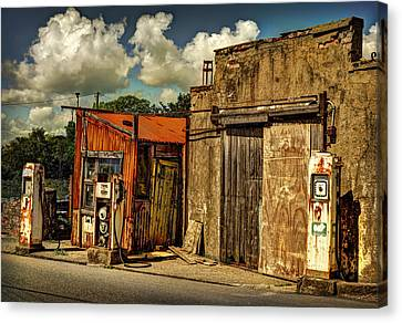 Old Gas Station Canvas Print
