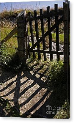 Canvas Print featuring the photograph Old Gate by Inge Riis McDonald