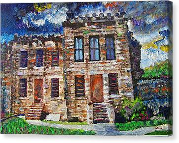 Old Georgetown Jail Canvas Print by GretchenArt FineArt