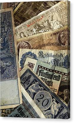 Old German Money Canvas Print by Falko Follert