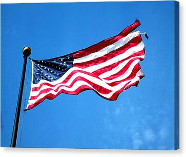 Old Glory - American Flag By Sharon Cummings Canvas Print by Sharon Cummings