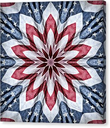 Old Glory Canvas Print by Cricket Hackmann
