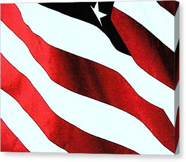 Old Glory Canvas Print by Dan Twyman