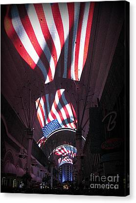 Old Glory In Vegas Canvas Print by John Malone
