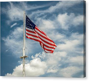 Old Glory Canvas Print by James Barber