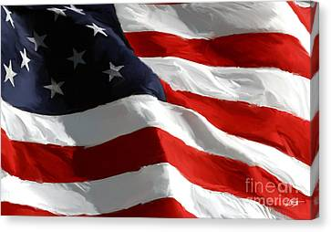 Old Glory Canvas Print by Paul Tagliamonte
