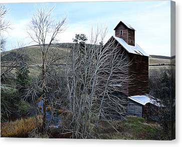 Old Grain Barn Canvas Print by Steve McKinzie