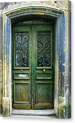 Old Green Door Canvas Print
