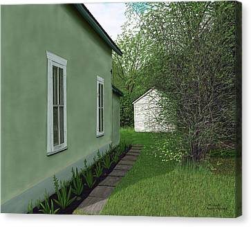 Old Green House Canvas Print by Michelle Moroz-Chymy