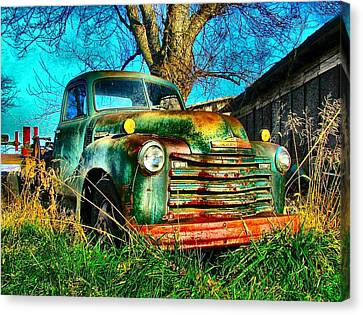 Old Green Canvas Print by Julie Dant
