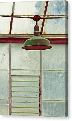 Old Green Lamp Canvas Print