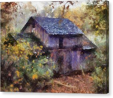 Old Grist Mill 02 Photo Art Canvas Print by Thomas Woolworth