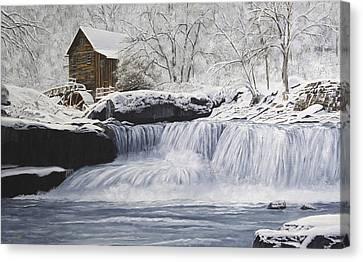 Old Grist Mill Canvas Print by Johanna Lerwick