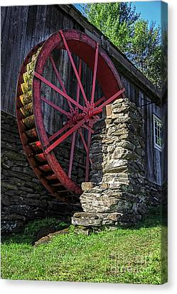 Old Mill Scenes Canvas Print - Old Grist Mill Vermont by Edward Fielding