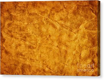 Old Grunge Creased Paper Background Canvas Print by Michal Bednarek