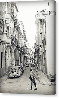 Crutch Canvas Print - Old Habana by Valentino Visentini