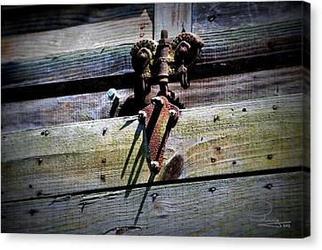 Canvas Print featuring the photograph Old Hardware by Ludwig Keck
