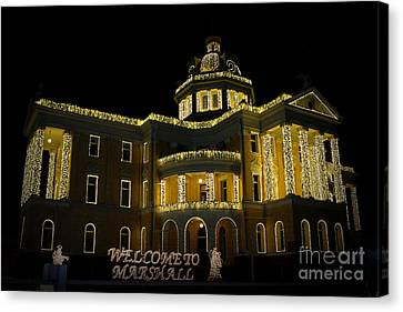 Old Harrison County Courthouse Canvas Print by Kathy  White