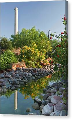 Old Hidalgo Pumphouse And Birding Canvas Print by Larry Ditto